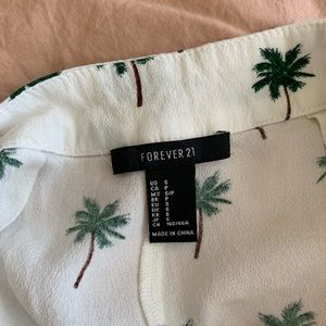 Forever 21 Shorts - Forever 21 Palm tree shorts
